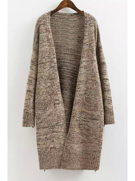 new Solid Color Long Sleeves Maxi Cardigan - CAMEL ONE SIZE(FIT SIZE XS TO M)