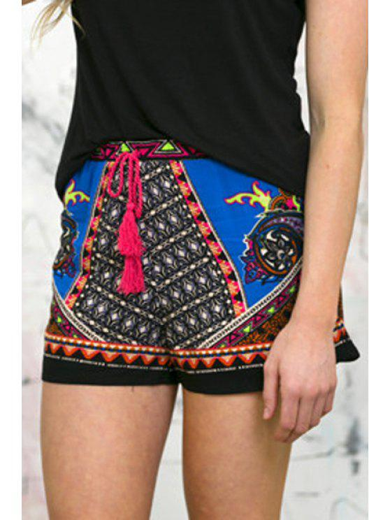 buy Tie-Up Printed Shorts - AS THE PICTURE S