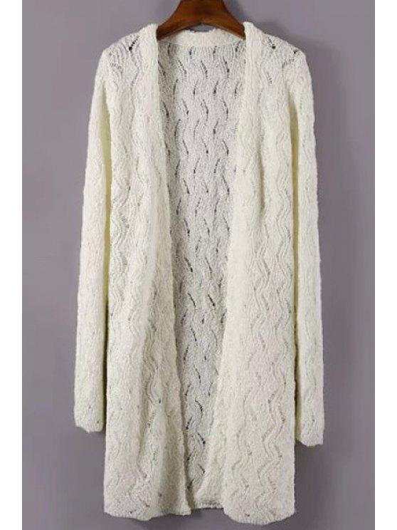outfits Hollow Out Long Sleeves Cardigan - OFF-WHITE ONE SIZE(FIT SIZE XS TO M)