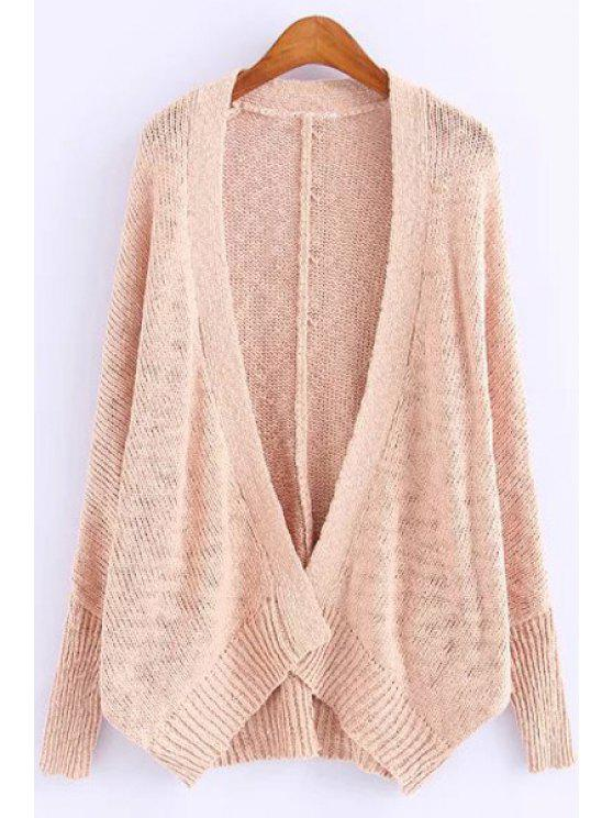 women's Long Sleeves Pure Color Cardigan - PINK ONE SIZE(FIT SIZE XS TO M)