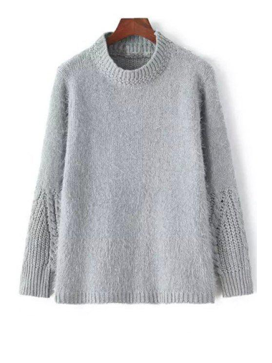 new Stand Neck Solid Color Jumper - GRAY ONE SIZE(FIT SIZE XS TO M)