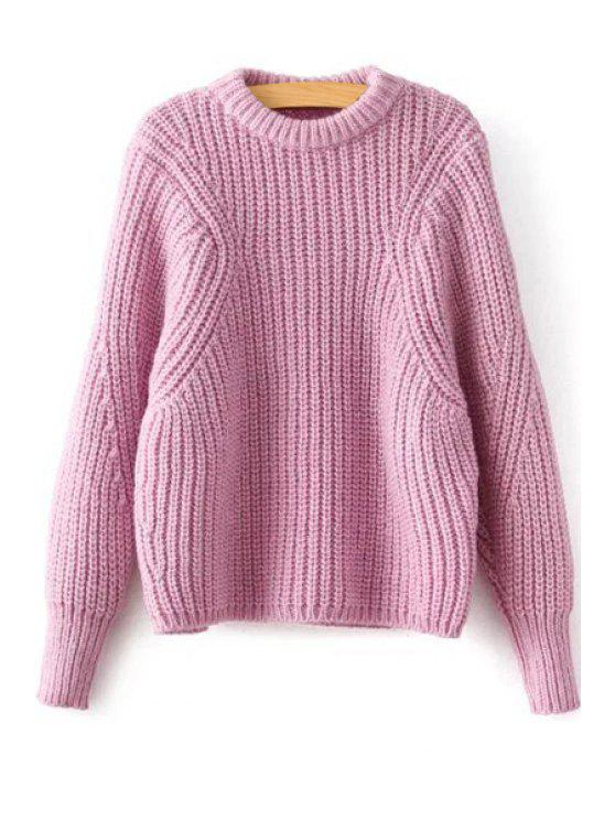 hot Batwing Sleeve Pink Sweater - PINK ONE SIZE(FIT SIZE XS TO M)
