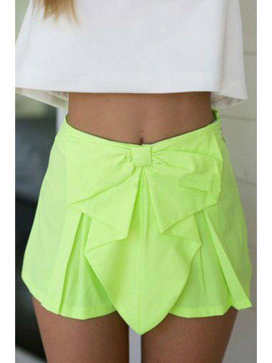 lady Candy Color High Waisted Shorts - LIGHT GREEN S