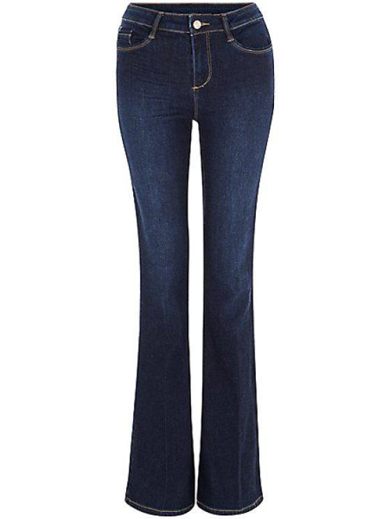 جينز توهج أزرق باهت - ازرق غامق M