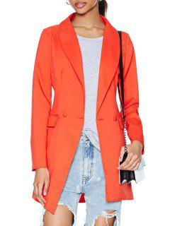Shawl Collar Solid Color Two Buttons Blazer - Jacinth M
