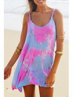 Colorful Print Cami Dress - Xl