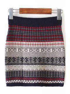 Color Block Stripe Skirt - S