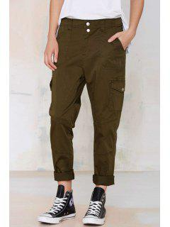 Army Green Straight Leg Pants - Army Green Xl
