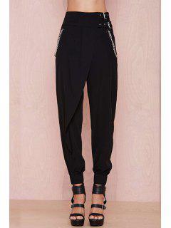 Pantalones De Pies Estrechos - Negro L
