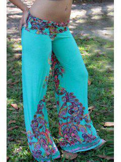 Colorful Floral Print Exumas Pants - Azure M