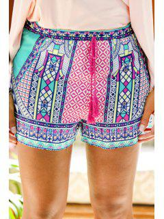 Shorts Imprimés Colorés Tie-Up - Xl