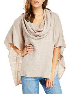 Heaps Collar Knitted Cape - Off-white 2xl