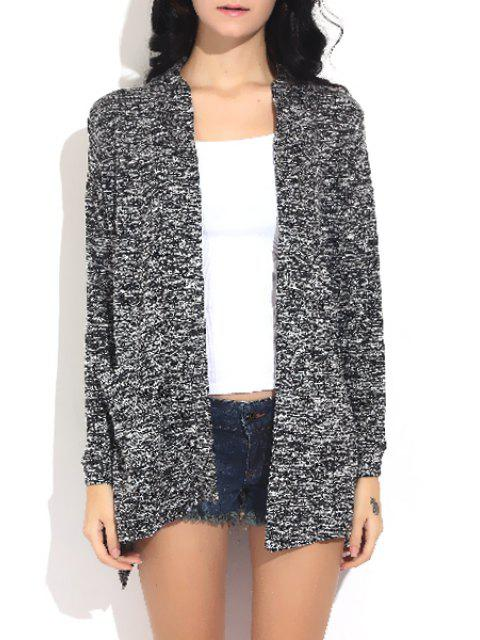 new Irregular Hem Long Sleeve Cardigan - GRAY S Mobile