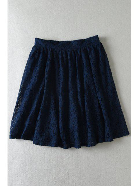chic Floral Lace Multi-Layered Skirt - CADETBLUE ONE SIZE(FIT SIZE XS TO M) Mobile