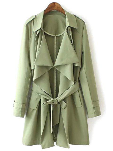 Epaulet de color sólido y funda de diseño de bolsillo - Verde L Mobile