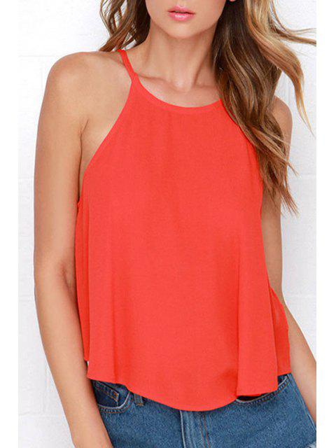 hot Solid Color Cami Hollow Tank Top - JACINTH S Mobile