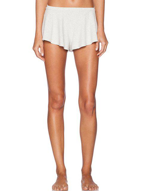 outfit Low-Waisted Straigrt Leg Stretchy Shorts - OFF-WHITE S Mobile