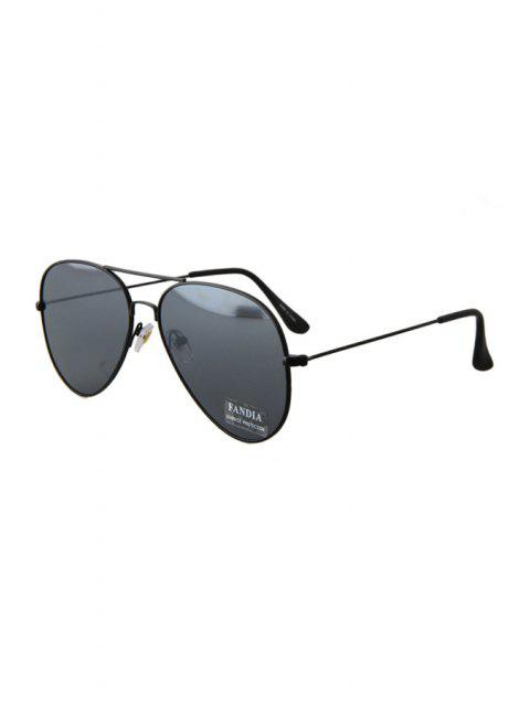 fashion Black Full Frame Sunglasses - BLACK  Mobile