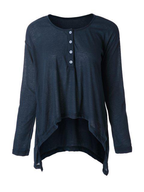 women Deep Blue Long Sleeve T-Shirt - DEEP BLUE M Mobile