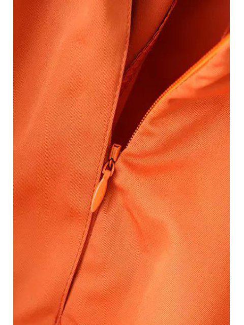 sale Ruffle Elastic Waist Skirt - BROWN L Mobile