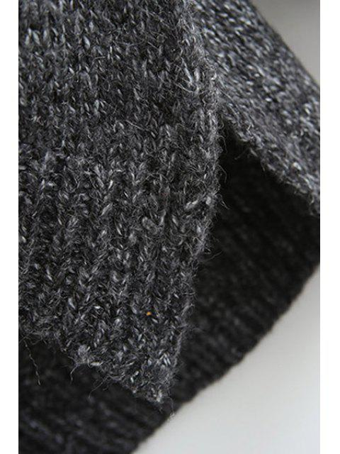 womens Turtle Neck High Low Slit Long Sleeve Sweater - BLACK ONE SIZE(FIT SIZE XS TO M) Mobile