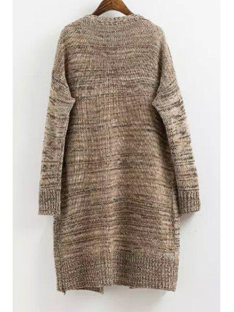 new Solid Color Long Sleeves Maxi Cardigan - CAMEL ONE SIZE(FIT SIZE XS TO M) Mobile