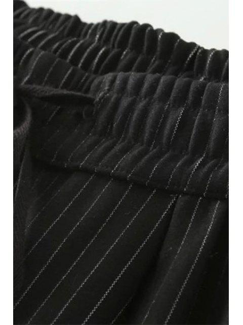 sale Tie-Up Stripe Pants -   Mobile