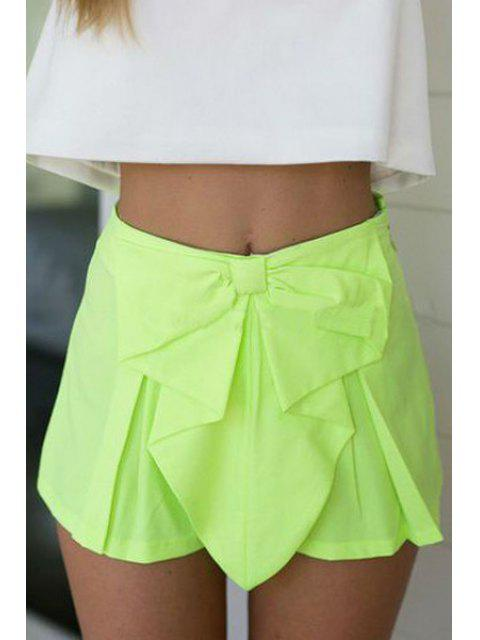 lady Candy Color High Waisted Shorts - LIGHT GREEN S Mobile