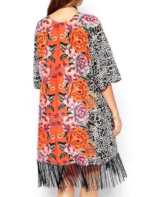 Kimono à demi manches à imprimé léopard - Léopard L Mobile