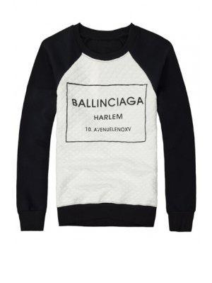 Camiseta Negra De La Impresión De La Letra - Negro Xl