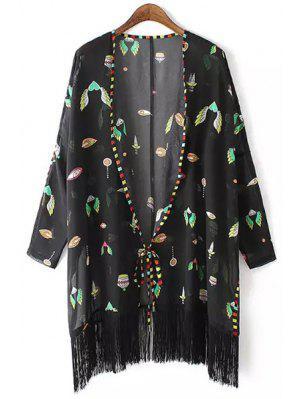 Kimono en mousseline à manches longues