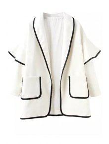 Bell Sleeve Pocket Trench Coat - White S