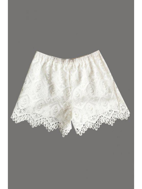 best Solid Color Lace Shorts - WHITE ONE SIZE(FIT SIZE XS TO M)