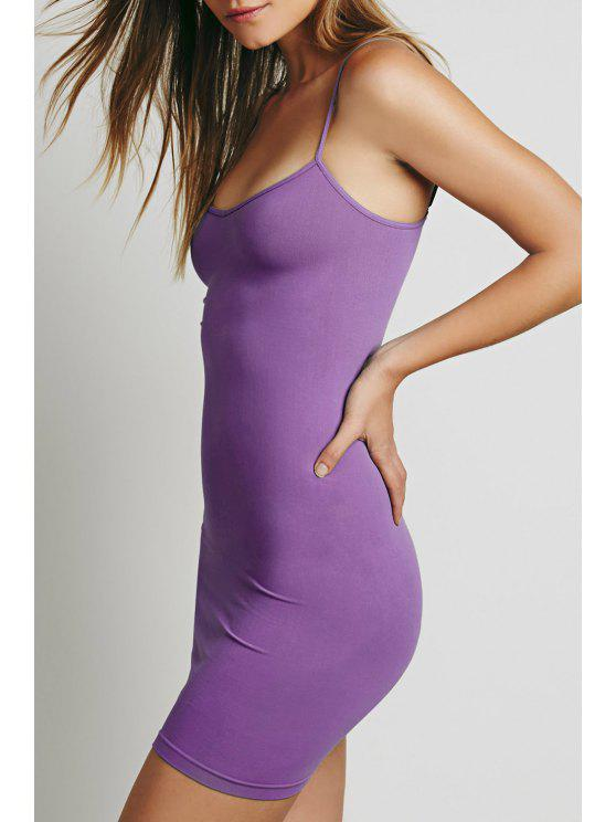 a3658028a267 17% OFF  2019 Solid Color Cami Bodycon Dress In PURPLE