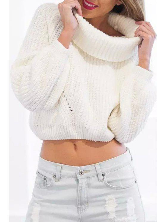 buy White Turtle Collar Long Sleeve Jumper - WHITE ONE SIZE(FIT SIZE XS TO M)