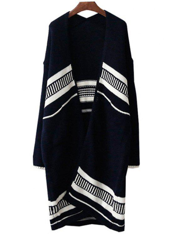 hot Open Front Loose-Fitting Long Cardigan - CADETBLUE ONE SIZE(FIT SIZE XS TO M)