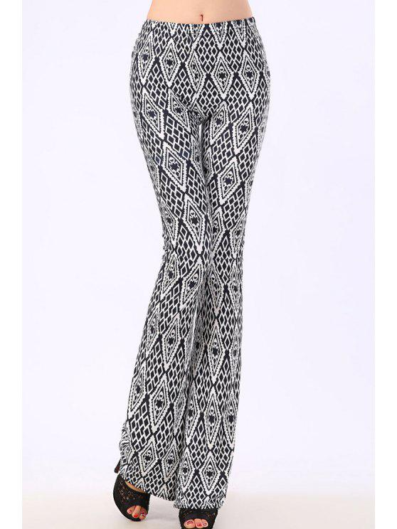 online Argyle Pattern Elastic Waist Pants - GRAY ONE SIZE(FIT SIZE XS TO M)