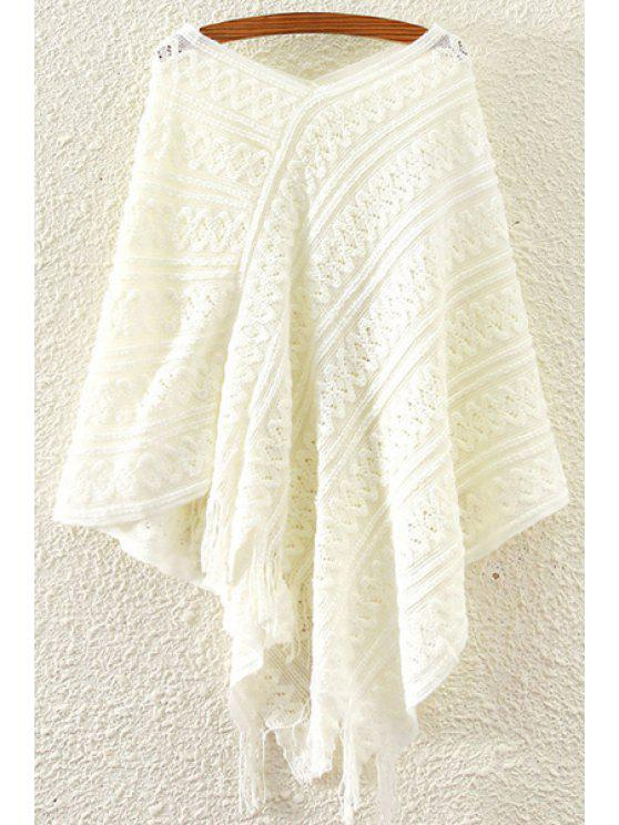 new Cape Solid Color V Neck Jumper - WHITE ONE SIZE(FIT SIZE XS TO M)