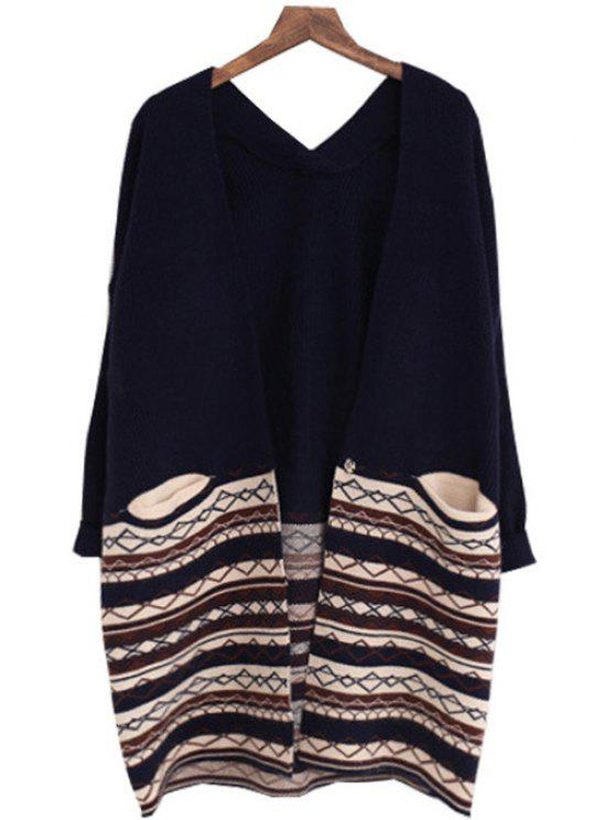 best Argyle Pattern Long Sleeves Cardigan - CADETBLUE ONE SIZE(FIT SIZE XS TO M)