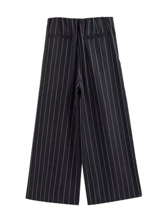 unique High-Waisted Bell Bottom Nine Minutes of Pants - BLACK S