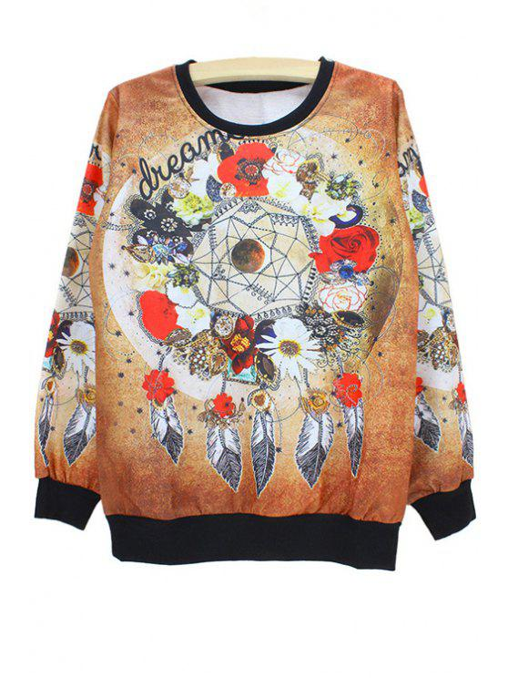 lady Multielement Print Sweatshirt - AS THE PICTURE M