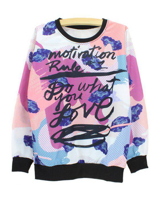 shops Graffiti Print Sweatshirt - WHITE M
