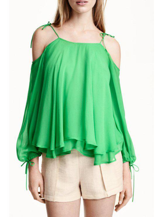 shops Green Chiffon Cami Tank Top - GREEN S