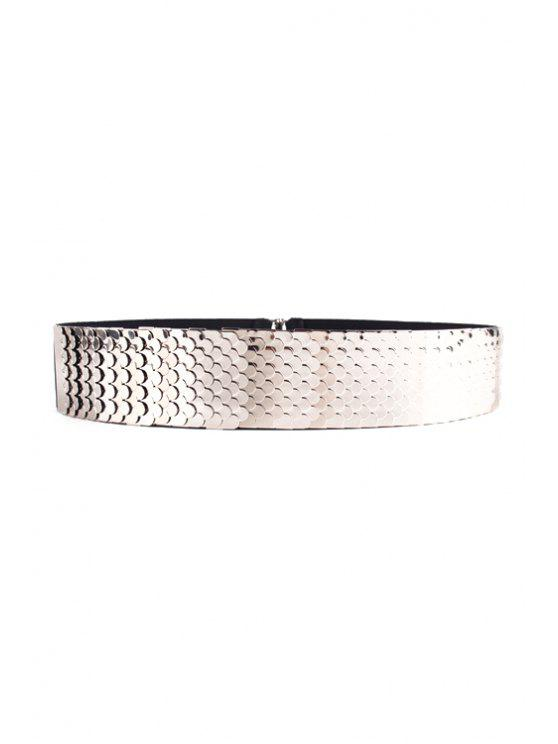 buy Fish Scale Shape Elastic Waistband - SILVER