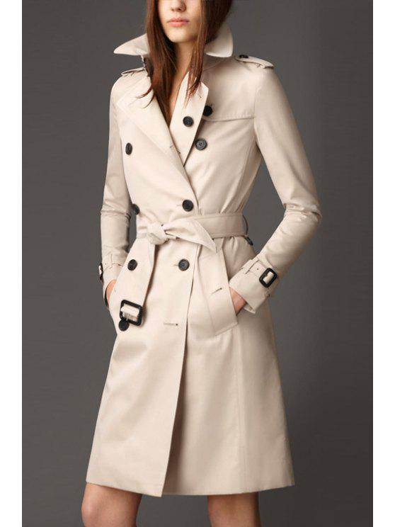 latest Double-Breasted Trench Coat With Belt - OFF-WHITE S