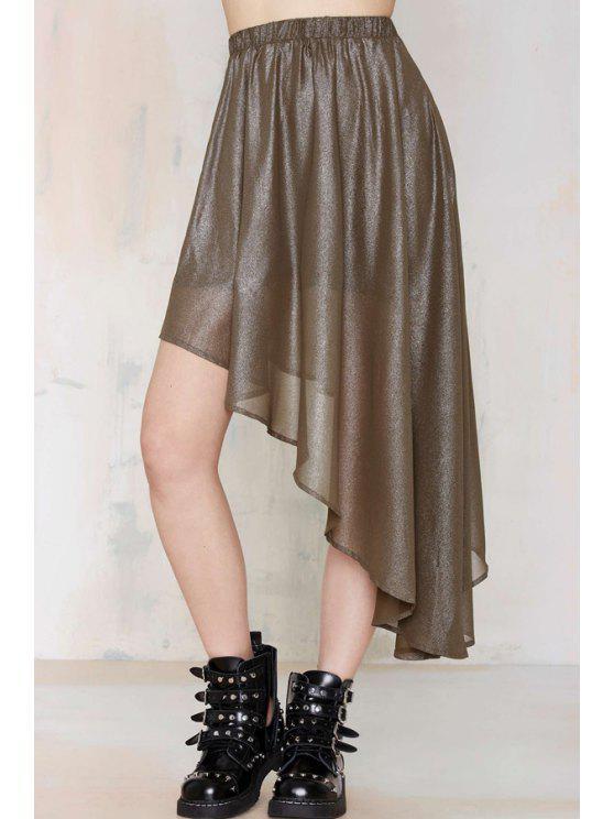 outfits Asymmetric Pleated Skirt - DUN S