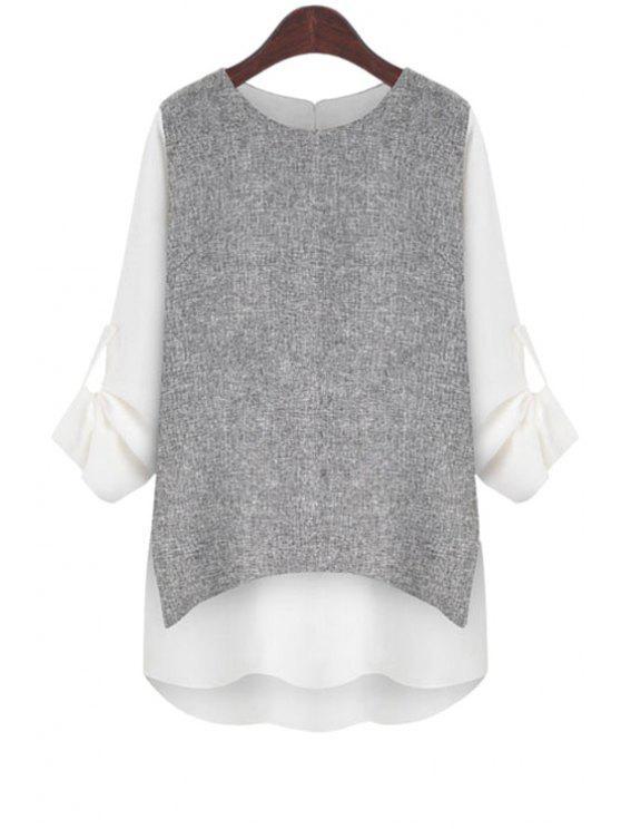 Camiseta de manga larga laminada - Blanco S