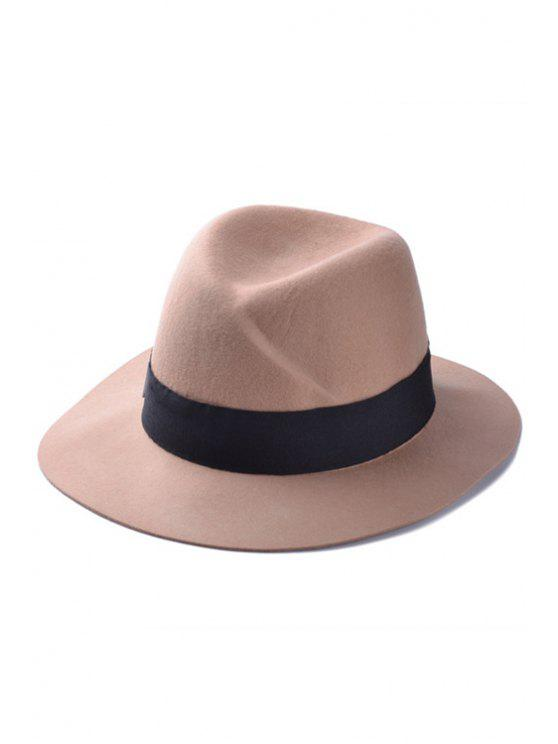 buy Letter M Felt Jazz Hat - KHAKI
