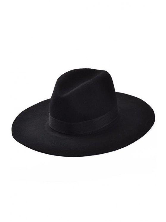 best Lace-Up Black Felt Jazz Hat - BLACK