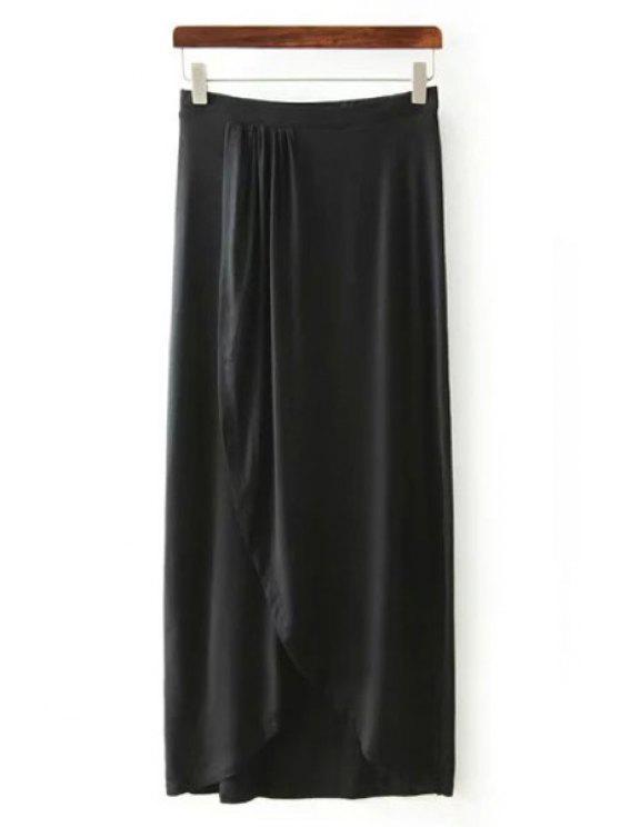 women's Black High Waisted Maxi Skirt - BLACK S